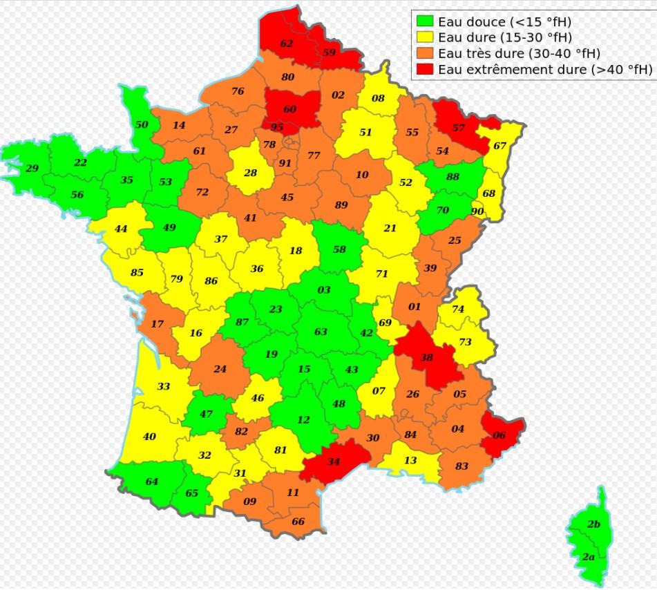 dureté de l'eau à Caen