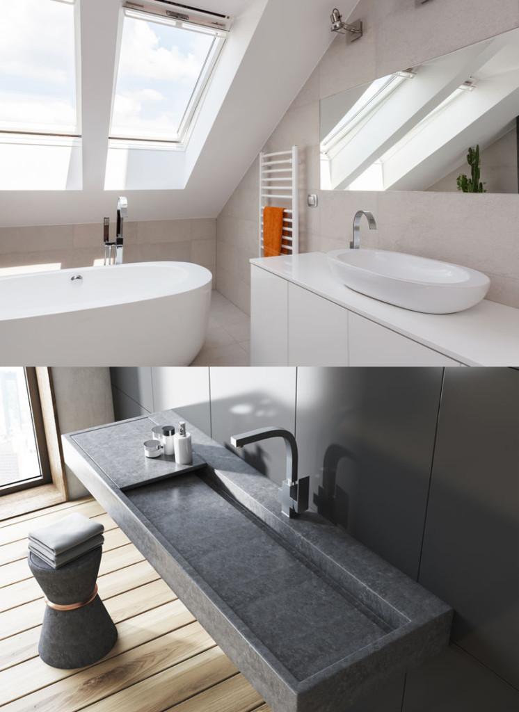 Plombier Caen pose lavabo salle de bain